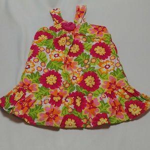 Jenny & Me Floral Print Sun Dress Girls 12m